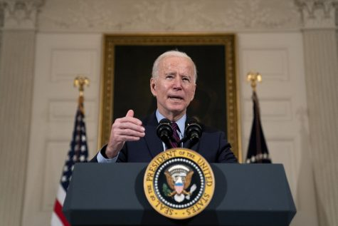 The so-called American Jobs Plan President Joe Biden released last month features spending on traditional infrastructure, like highways and airports, to better compete with China. His advisor believes this pitch will resonate with Republican men and blue-collar workers. (Photo courtesy of Stefani Reynolds/Pool/Getty Images/TNS)