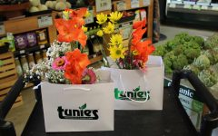 Fresh cut flowers from Marjory's Garden have been sold at Tunie's market for $9.99 since April 25. Photo by Dana Masri
