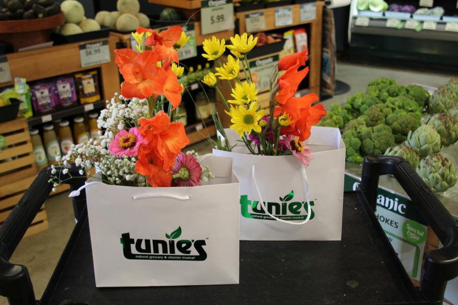 Fresh cut flowers from Marjorys Garden have been sold at Tunies market for $9.99 since April 25. Photo by Dana Masri