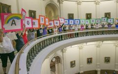Abortion rights advocates protest abortion restrictions being debated in the Texas House on July 2017 at the Capitol. Photo courtesy of Ralph Barrera