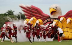 The MSD varsity football team was on track to win their game against West Broward before bad weather delayed their game.