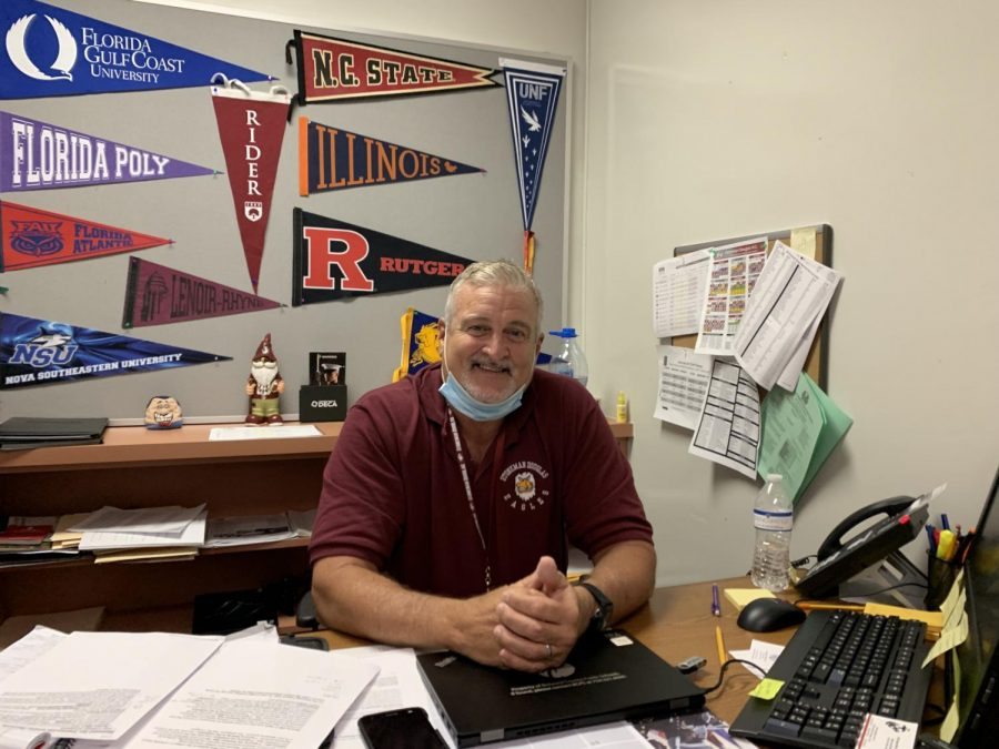 New B.R.A.C.E. advisor Randy Congdon has worked in the education industry for several decades. This school year is the first time he has ever worked in a high school after transitioning from a college environment.