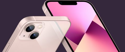 New tech. The iPhone 13 now comes in the color pink with the new camera layout. While the cameras were previously vertical, they now have a diagonal camera view with the most advanced dual-camera system ever.