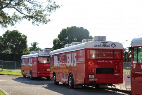 The BIG RED BUS visited MSD on September 29th to collect blood from the students who participated in the Eagle Regiment Blood Drive.