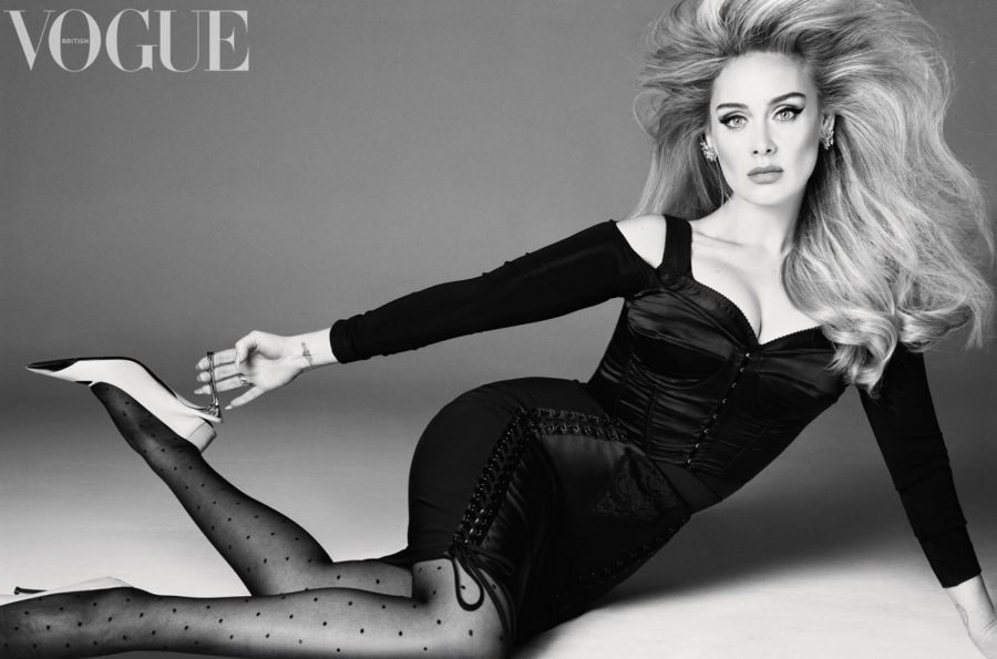 Posed and proud. Adele flaunts her body in the new Vogue cover after losing weight. Adeles Vogue interview has created controversy by raising body image standards. Photo courtesy of Vogue