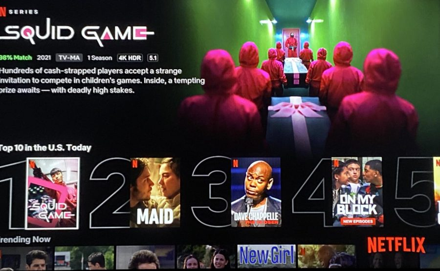 Top+10.+Netflix+showcases+10+movies+and+TV+shows+that+are+trending+for+the+day.+Currently%2C+the+new+show+Squid+Game+takes+first+place.