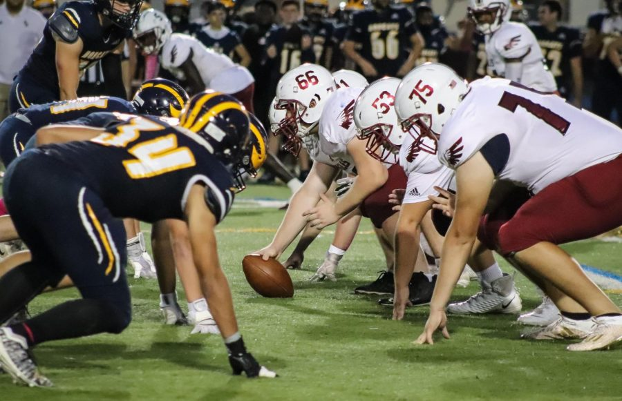 In the beginning of the second quarter, MSD players went head-to-head with the Boca Bobcats. The Eagles had possession of the ball.