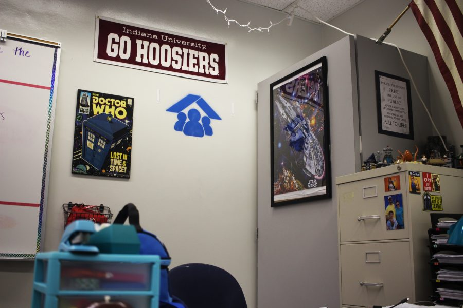 """Cornered. In 2019, symbols designating 'hard corners' or """"safer spaces' were spray painted in every classroom at Marjory Stoneman Douglas High School, except the portables, which are on lease. Symbols were changed from blue to red after stakeholder input. Increasing enrollment at MSD makes it more difficult for students to fit into safer spaces in the event of an emergency."""